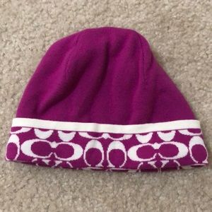 Magenta Coach Beanie/Winter Hat